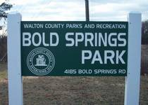 Bold Springs Park Sign
