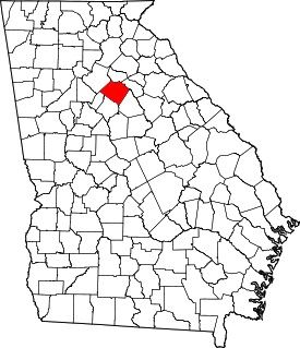 Map of Georgia with Walton County highlighted